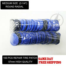 "100 Pcs Medium Size (2-1/4"") Round Radial Repair Tire Patches With High Quality"