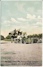 Transporting Canoes to West Branch of Penobscot in North East Carry ME Postcard