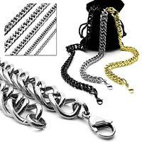 Set Panzerkette Gliederkette Halskette Armband Edelstahl Herrenkette Königskette