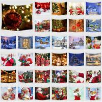 Christmas Wall Tapestry Santa Claus Hanging Wall Decor Beach Towel Bedspread