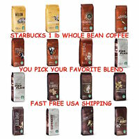 Starbucks Whole Bean 1lb Coffee- LIGHT/MEDIUM/DARK ROAST -U PICK - FREE SHIPPING