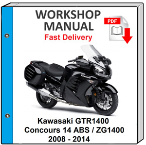 KAWASAKI GTR1400 2008 2009 2010 2011 2012 2013 2014 SERVICE REPAIR SHOP MANUAL