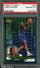 1998-99 Upper Deck Ionix #65 Vince Carter Raptors RC Rookie PSA 10 GEM MINT