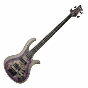 Schecter Riot-4  SARB Electric Bass - Aurora Burst Swamp Ash Body, Burl Top