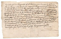 1750 Louis XV royal notary manuscript document
