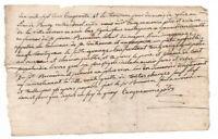 1750 Louis XV royal notary manuscript document