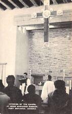 Fort Defiance Arizona~Good Shepherd Mission~Chapel Interior~Priest~1940s Artvue