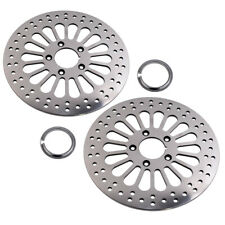 "2pcs 11.5"" Front Disc Drilled Brake Rotor Disk For Harley Dyna Sportster Softail"
