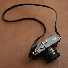 Vintage Black Genuine Leather Camera Neck Shoulder Strap for Film SLR DSLR Leica