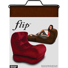 Flip chair adult bean bag lounger- Brown Colour