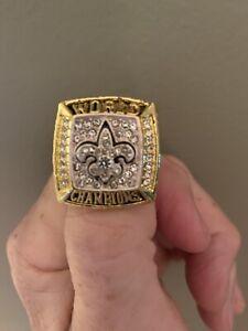 New Orleans Saints 2009-2010 Replica Championship Ring Size 11, 2009 New Orleans Saints