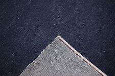 """Indigo Denim 100% Cotton Navy Blue 68"""" W Canvas 14 OZ. Bull Twill Fabric Apparel"""