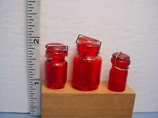 Glass Canning  Jars (3) #HB126 Dollhouse Mini