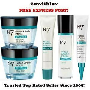BOOTS NO 7 PROTECT & PERFECT INTENSE ADVANCED DAY NIGHT EYE CREAM SERUM EXPRESS!