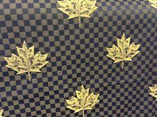 10 M Maple Leaf Blu Oro Damasco Tessuto Tende Spedizione gratuita