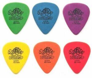 6 x Dunlop Tortex Standard Guitar Pick Plectrum - Choose your size