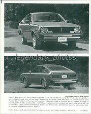 1977 Plymouth Arrow Front and Back Original News Service Photo