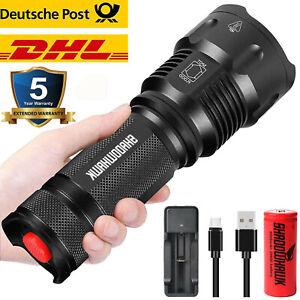 Super hell 100000lm Taschenlampe LED L2 Taktisches Fackel 5000mAh Batterie