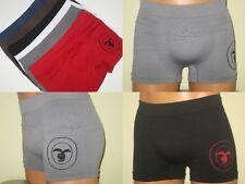 6 Men's Boxers Briefs SEAMLESS Underwear Sport short BUNNY PLAY HONOR ONE SIZE