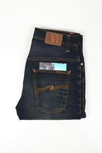 30445 Nudie Jeans Thin Finn Crispy Crinkles Blue Men Jeans in size 31/32
