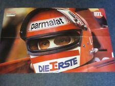 Doublesided Large poster  Tyrrell 009 J.P.Jarier / Niki Lauda Helmet 1977