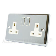 Polished Chrome Classical 2 Gang Socket 13 Amp CPC2GSOCWC