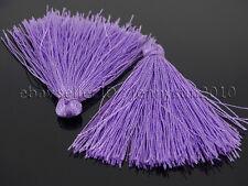 Colorful Cotton Silky Silk Handmade Trim Tassel 40mm For Jewelry Crafts Design