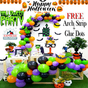 Halloween Confetti Latex Balloon Arch Kit 100 Pc Garland Halloween Party Decor