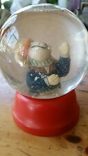 "DEPARTMENT  56  SNOW GLOBE~ 3.5"" GLOBE.  RABBIT, BUNNY  WITH HAT & SCARF, ~GUC"