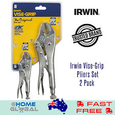 Irwin Vise-Grip 2 Pcs Locking Pliers Set With Wire Cutter 250mm 10WR & 125mm 5WR