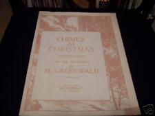 CHIMES AT CHRISTMAS MEDITATION..SHEET MUSIC,1913