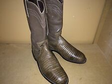 JUSTIN BOOTS GENUINE LIZARD SIZE 5 BROWNS IN PRISTINE CONDITION
