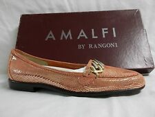 Amalfi By Rangoni Size 5 S N Narrow Oste Tulip Flats Suede New Womens Shoes