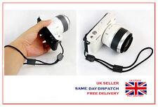 Black Camera Nylon Hand Wrist strap with Leather For Fuji Pentax Samsung Sony GE