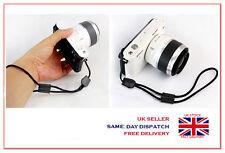 Black Camera Nylon Hand Wrist strap with Leather For Fuji Pentax Samsung Sony GE