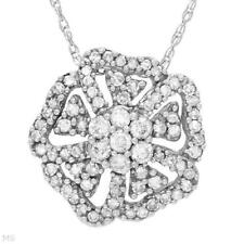 NECKLACE  WHITE GOLD WITH 0.50CTW GENUINE CLEAN G/SI3 DIAMONDS. BRAND NEW