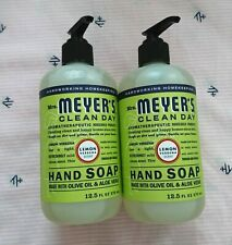 Mrs. Meyer's Lot of 2 Lemon Verbena Liquid Hand Soap Wash 12.5oz/370ml Each NEW