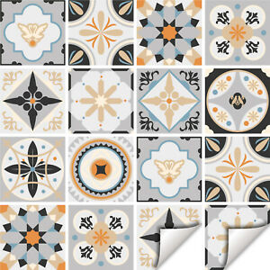 Vintage Tile Stickers Transfers Traditional Kitchen Bathroom 6 Col options - T28