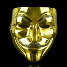 2 Pack of V for Vendetta Gold Mask Fawkes Anonymous Halloween Cosplay Costume