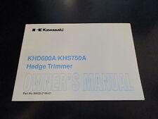 Kawasaki OEM Hedge Trimmer Owners Manual KHD600A KHS750A 99920-2144-01