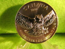"""2015 canadian birds of prey ''  GREAT HORNED OWL """"  1 oz. silver round"""