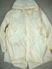 Vintage 80s M-65 Fishtail Parka Arctic White Snow Camo Military 1984 Army Mens L