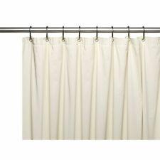 Mildew-Resistant 10 Gauge Vinyl Shower Curtain Liner 72x84 Reinforced Header