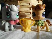 petshop LPS littlest pet shop very rare duo cheval little pony horse #524 #684