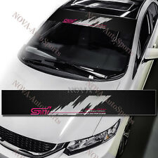 SUBARU STI Car Window Windshield Carbon Fiber Vinyl Banner Decal Sticker IMPREZA