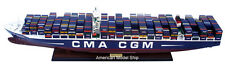 "CMA CGM MARCO POLO Container Ship Model 40"" - Handcrafted Wooden Model NEW"