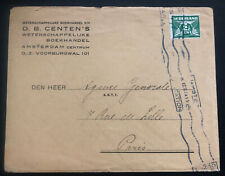 1930s Amsterdam Netherlands Commercial Cover To Paris France