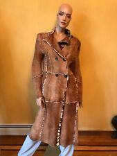 100% AUTHENTIC SYLVIE SCHIMML SHEARLING LADY'S COAT, SIZE 42, MADE IN FRANCE