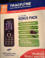 Samsung SGH S125G  (TracFone) Cellular Phone Bundle w/ Case, Car & Wall Chargers