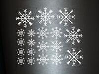 1 x 19 Plott Aufkleber Schneeflocken Weihnachten Fenstertattoo Winter Deko